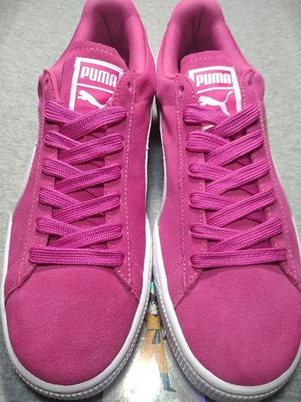 5.5mx Tenis Sneakers Puma Suede Fucsia