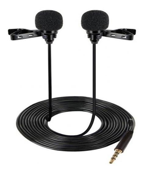 Kit Microfone Lapela Duplo +01 Cabo Extensão P/celular And.
