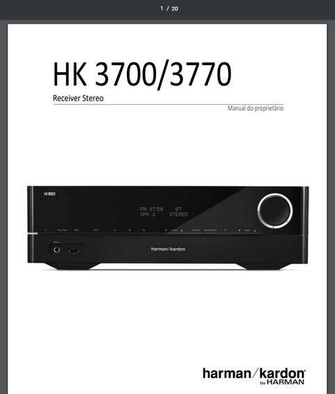 Manual Em Português Do Receiver Harman Kardon Hk 3770,3700