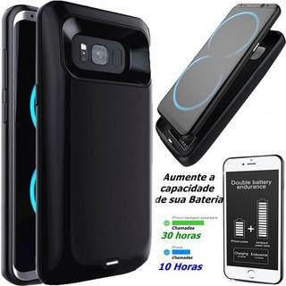 Capa Case Galaxy S8 Plus Com Bateria Externa 5500 Mha Tpu