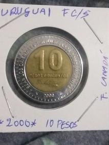 Moeda 10 Pesos Uruguaio *2000* José Artigas Fc/s