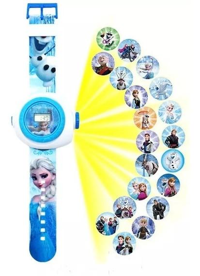 Relógio Infantil De Personagens C/ Projetor De Imagens