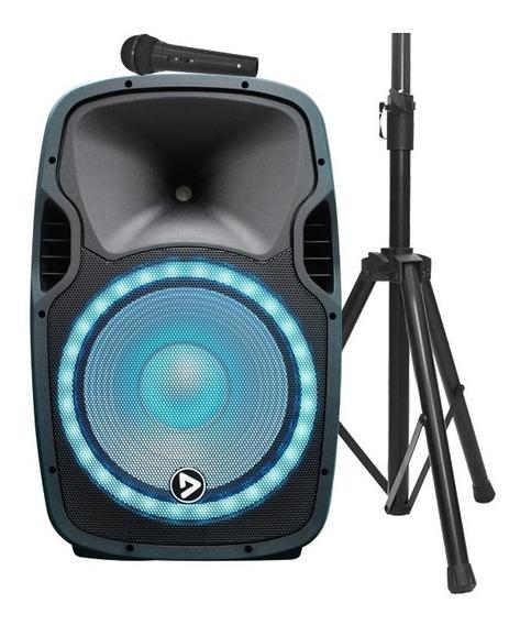 Parlante Activo Electro Party Luz Led Bluetooth Fm Usb 400w