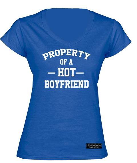 Sarcasmo- Playera Property Of A Hot Boyfriend Dama
