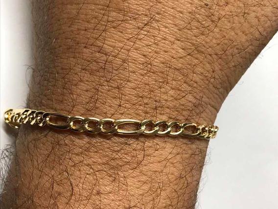Pulseira Masculina Ouro Puro 18k 750 Grumete