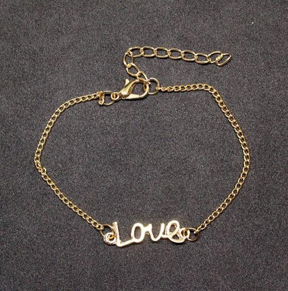 737940b - Pulseira Folheado Ouro 18k Love