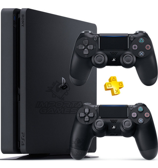 Playstation 4 Ps4 Slim 500gb + 2 Controles Bivolt Original