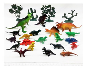 Kit 12 Peças Dinossauros De Borracha Miniatura Jurrasic Worl
