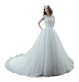 Vestido De Novia De Encaje Ajustable Con Envio Gratis !