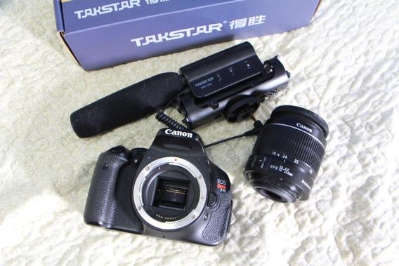 Canon Eos T3i + Lente 18-55mm + Mic Externo. A Vista 1350
