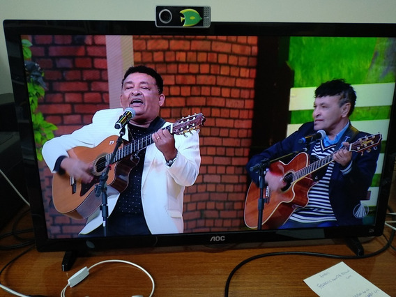 Tv E Monitor Pc 24 Led Aoc Full Hd Ótima Imagem