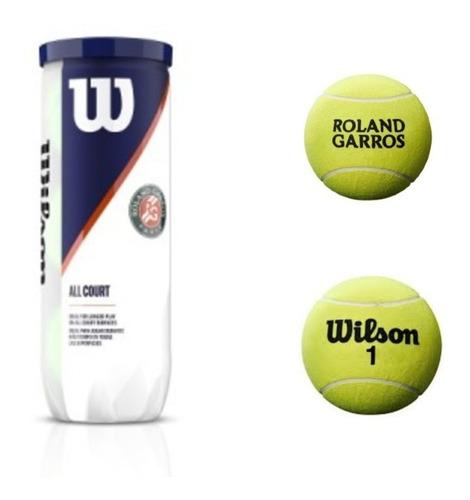 Imagen 1 de 6 de Pelota De Tenis Wilson Roland Garros Nueva Edicion X3 Clay