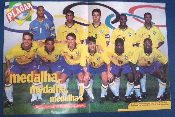 Pôster Placar Brasil Campeão Pré-olímpico 1996 45cm X 30cm