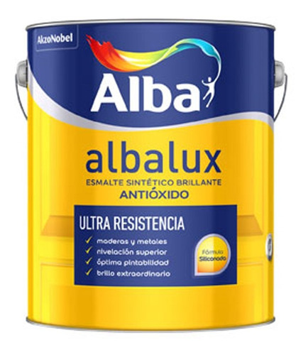 Esmalte Sintetico Albalux Blanco Brillante 1lt Pintumm