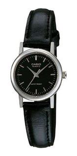 Reloj Mujer Casio Ltp-1095e-1a Analogo Negro / Lhua Store