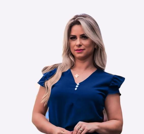 Blusa Feminina Social Botao Moda Evangélica Camiseta Perola