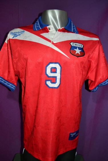 Camiseta Seleccion De Chile Reebok 1998. Zamorano #9