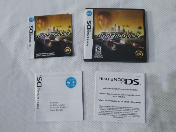 Caixa E Manual Need For Speed Undercover - Nintendo Ds