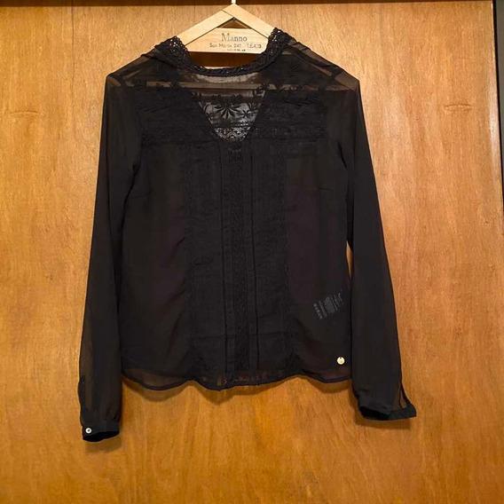 Camisa Negra Bordada