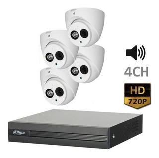 Kit Camaras Seguridad Dahua Xvr Dvr 4ch 720p Con Audio
