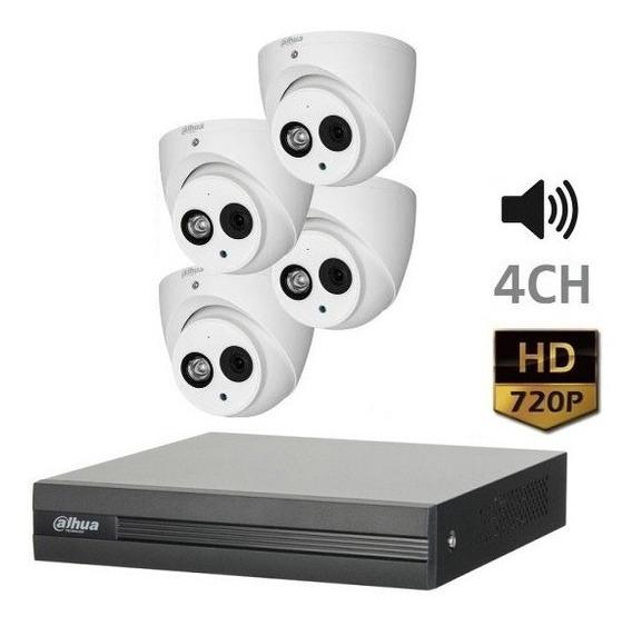Kit Camaras Seguridad Dahua Xvr Dvr 4ch 720p Con Audio