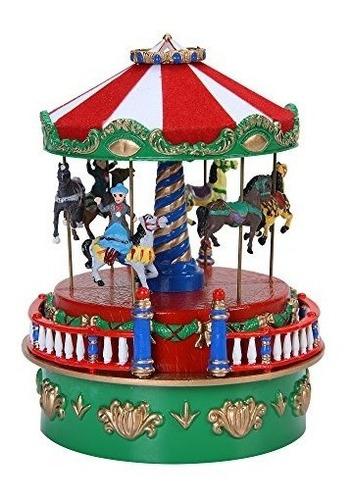 Carrusel Caja De Musica De Navidad Con Musica De Navidad Por