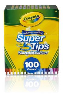 Crayola Supertips 100 Plumones Lavables Washable Niños