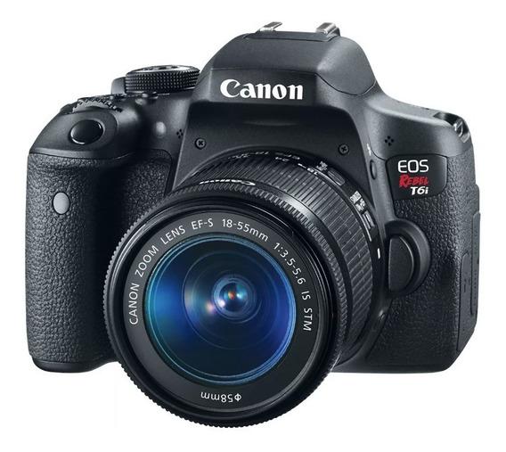 Canon T6i + Lente 18-55mm