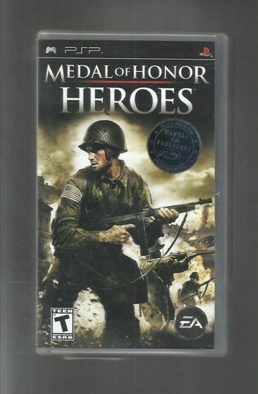 Medal Of Honor Heroes - Psp - Apenas Capa E Encarte