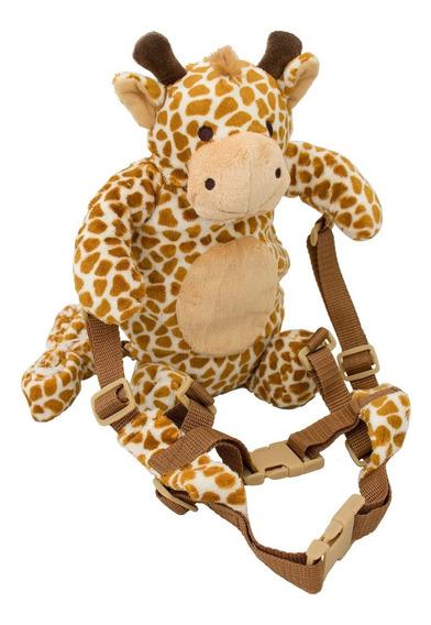 Mochila Guia Coleira De Segurança Infantil Girafa