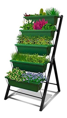 Imagen 1 de 7 de Jardinera Vertical De 4 Pies - 5 Niveles
