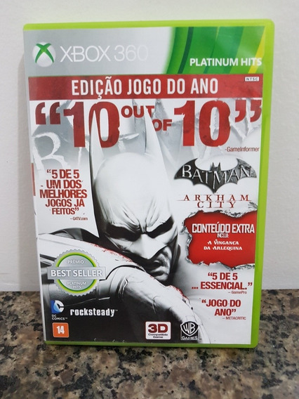 Batman Arkham City - Original Mídia Física Xbox 360