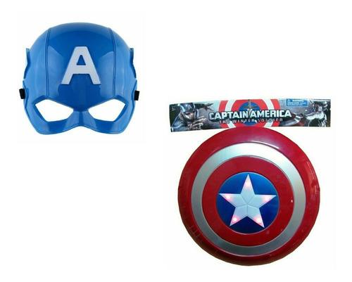 Escudo Y Mascara De Capitan America Combo