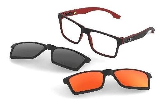 Oculos Mormaii Swap M6057aa956 Preto Fosc Clip On Polarizado