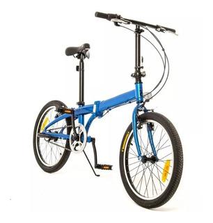 Bicicleta Plegable Aluminio Philco Yoga 3s R20 3v