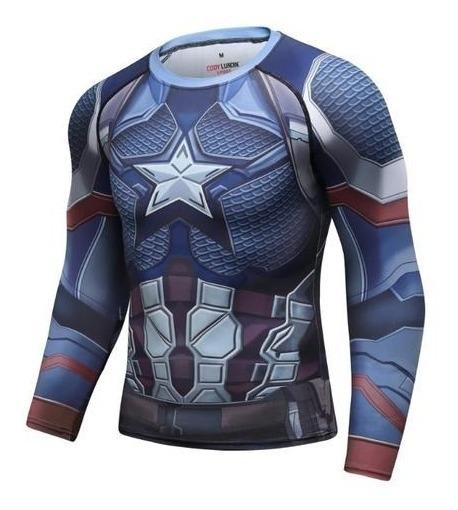 Playera Capitan America Endgame Marvel Avengers Licra Compre