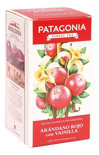 Te Patagonia Premium X 20 Saq. Arándano Rojo Vainilla