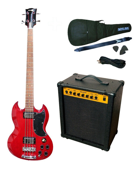 Combo Bajo Electrico Racker Plus 448 + Amplificador + Acces