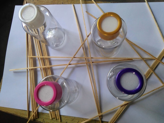Envase Frasco Pet Cristal Difusor Aromático + Varillas Por40