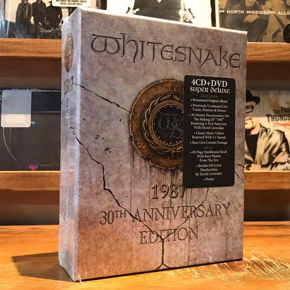 Whitesnake 1987 30th Anniversary Edition Box Set 4 Cds Dvd
