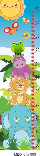 Lona Medidor Infantil Niños Niñas Personalizados