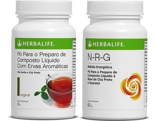 Chá Verde Herbalife 50g + Nrg 60g - Produto Original E Fréte Grátis.