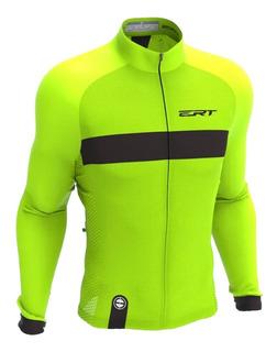 Camisa Ciclismo Ert Nova Tour Stripe Green 2020 Manga Longa