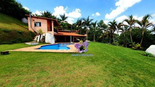 Chácara Com 3 Dormitórios À Venda, 3800 M² Por R$ 770.000,00 - Aparecidinha - Araçariguama/sp - Ch0134