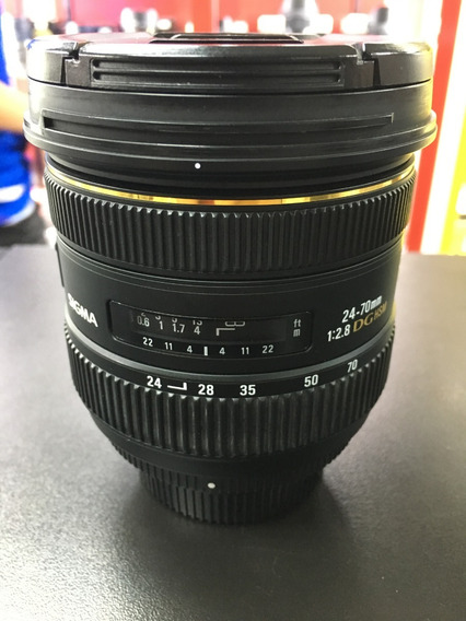 Sigma 24-70mm 2.8 Dg Ex Hsm Para Nikon 12x Sem Juros
