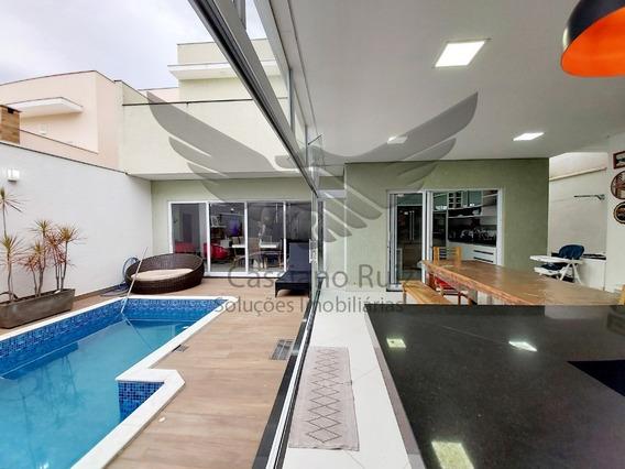 Casa - Sobrado No Condomínio Villagio Milano - 04 Suítes - Sala 2 Ambientes Com Pé Direito Alto - Cozinha Integrada Com Espaço Gourmet - Piscina - 1000237 - 68077897