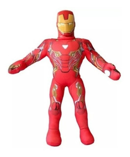 Iron Man - Muñeco De Tela Cabeza Plástico - 45cm