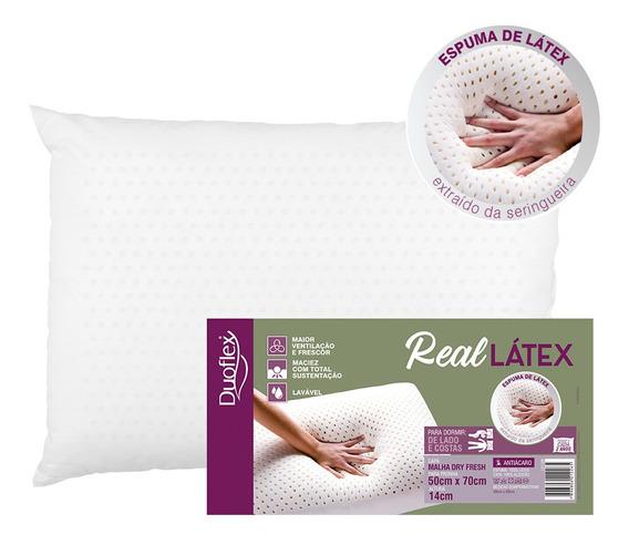Travesseiro Real Látex Duoflex Altura 14cm 50x70