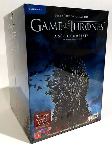 Box Blu Ray Game Of Thrones 1 8 Dublado Serie Completa Mercado Livre