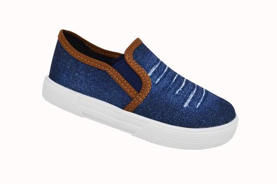 Tênis Infantil Para Meninos Molekinho Jeans - Azul
